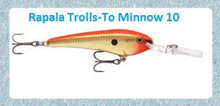 rapala trolls to minnow